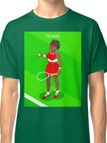 Tennis Player Vector Isometric Classic T-Shirt