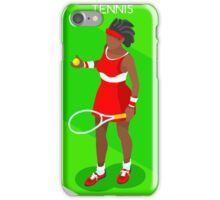 Tennis Player Vector Isometric iPhone Case/Skin