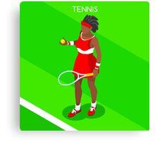 Tennis Player Vector Isometric Canvas Print