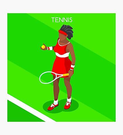Tennis Player Vector Isometric Photographic Print