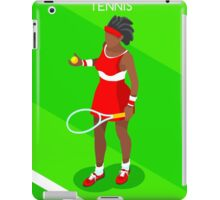 Tennis Player Vector Isometric iPad Case/Skin