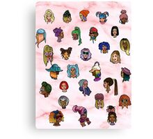 Floating heads of Colored girls  Canvas Print