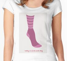 Pink Sock Day Women's Fitted Scoop T-Shirt