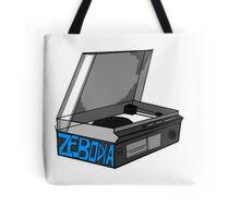 Retro Record Player Love Zebodia Tote Bag