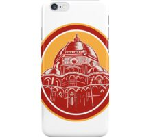 Dome of Florence Cathedral Front Woodcut iPhone Case/Skin