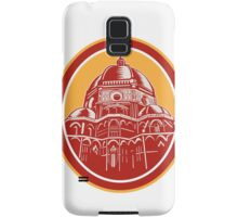 Dome of Florence Cathedral Front Woodcut Samsung Galaxy Case/Skin