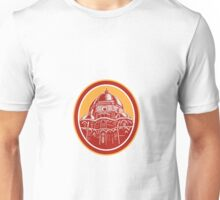 Dome of Florence Cathedral Front Woodcut Unisex T-Shirt