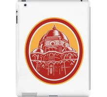 Dome of Florence Cathedral Front Woodcut iPad Case/Skin