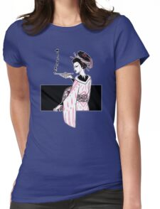 Oiran (White Version) Womens Fitted T-Shirt