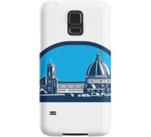 Dome of Florence Cathedral Retro Woodcut Samsung Galaxy Case/Skin