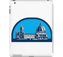 Dome of Florence Cathedral Retro Woodcut iPad Case/Skin
