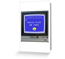 C64 - Press Play on Tape Greeting Card