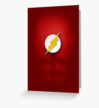 Flash Suit Greeting Card