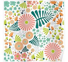 Whimsical flowers Poster