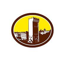 Tower of San Niccolo Florence Woodcut by patrimonio
