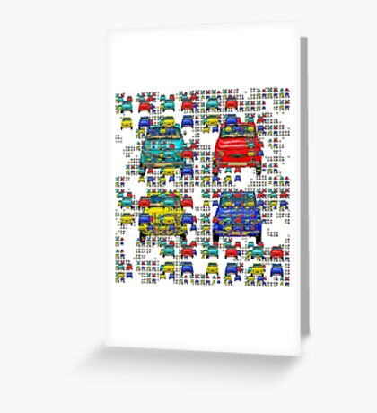 Vintage compact cars Greeting Card