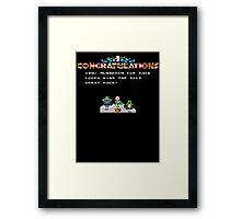 Trophy Win Framed Print