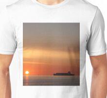 Ships at Sunset Unisex T-Shirt