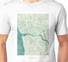 Porto Map Blue Vintage Unisex T-Shirt