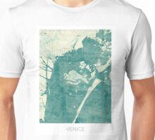 Venice Map Blue Vintage Unisex T-Shirt