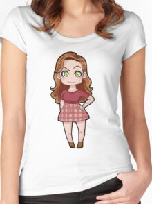 Lydia sticker  Women's Fitted Scoop T-Shirt