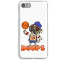 HOOPS! THE SIN CITY PUGS BASKETBALL CLUB. iPhone Case/Skin