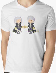 Chibi Robins Vector Mens V-Neck T-Shirt