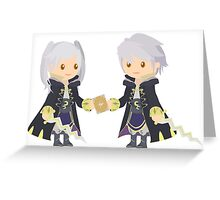 Chibi Robins Vector Greeting Card