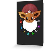 Eevee Elements Greeting Card