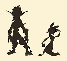 Jak and Daxter: The Precursor Legacy Silhouette by DaxterMaster
