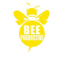Bee Productive Cool Bee Graphic Typo Design Photographic Print