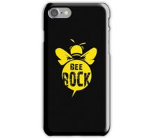 Bee Rock Cool Bee Graphic Typo Design iPhone Case/Skin