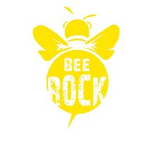 Bee Rock Cool Bee Graphic Typo Design Photographic Print