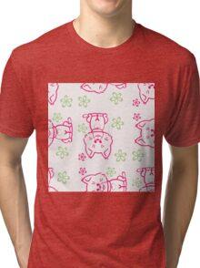 pattern Cute beauty cats Tri-blend T-Shirt