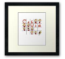 Calvin face  Framed Print