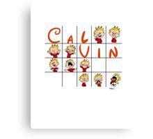 Calvin face  Canvas Print