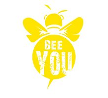 Bee You Cool Bee Graphic Typo Design Photographic Print