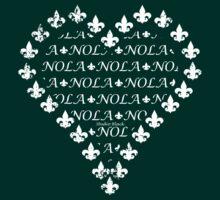 NOLA Fleur de Lis Heart (White) by StudioBlack