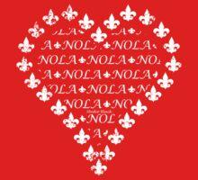 NOLA Fleur de Lis Heart (White) Kids Tee