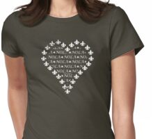 NOLA Fleur de Lis Heart (White) Womens Fitted T-Shirt