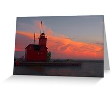 Big Red at Dusk Greeting Card
