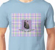 Jamie & Claire Wedding on plaid Unisex T-Shirt