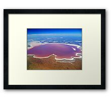 Lake Eyre - Aerial View Framed Print
