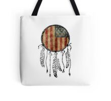 USA Flag Dream Catcher Tote Bag