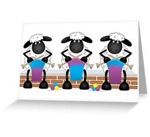 A Knitting Competition For Ewe Greeting Card