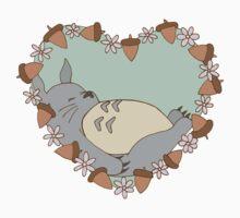 Sleeping Totoro - Green Kids Tee
