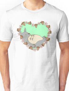 Sleeping Totoro - Green Unisex T-Shirt