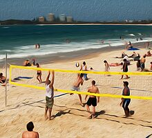 Volleyball at Mooloolaba, Queensland by Karen Duffy