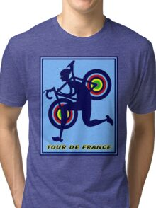 TOUR DE FRANCE; Abstract Advertising Print Tri-blend T-Shirt