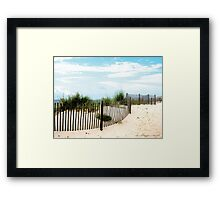 Sand Fence on Beach Gulfshores, Alabama Framed Print